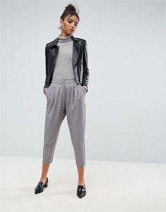 Get this Asos's baggy trousers now! Click for more details. Worldwide shipping. ASOS Tailored Drop Crotch Tapered Trouser - Grey: Trousers by ASOS Collection, Stretch woven fabric, High-rise waist, Zip fly with hook and bar fastening, Side pockets, Drop crotch design, Jet back pockets, Tapered leg, Regular fit - true to size, Machine wash, 76% Polyester, 18% Viscose, 6% Elastane, Our model wears a UK 8/EU 36/US 4 and is 179cm/5'10.5 tall. Score a wardrobe win no matter the dress code with…