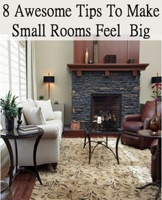 Just because the rooms in your house are small, doesnt mean they cant look big. You can make any space look bigger by using these simple tricks. Transform your small rooms into an inviting, seemingly spacious home. 1. Lighting. It all starts with light. Lightness evokes space, while darkness constrains and hides it. So first, use all