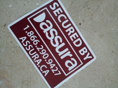 Both Sided Printed Round Corners Decal Sticker