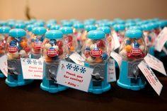 mitzvah party favors gum ball machines