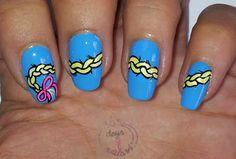 365 days of nail art : Day 224) Nail art Rapunzel