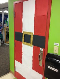 Santa door decoration #christmas #holidays #school