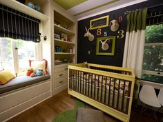 Contrast Is Key - Global, Gender-Neutral Nursery on HGTV.  (Though not a fan of the animal head-inspired wall décor...)
