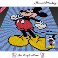 Proud Mickey Disney inspired c2c graph crochet by TwoMagicPixels