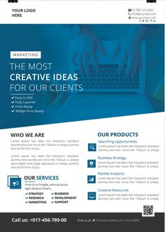 Creative Business – Download Free PSD Flyer Template Free Psd Flyer Templates, Design Templates, Party Flyer, Business Flyer, Creative Business, Lorem Ipsum, Layout Design, Words, Photoshop