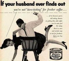 Chase & Sanborn Coffee ad - Whoopins over stale coffee.  Wow!  Times have changed!