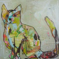 Multi color cat-could be an oil pastel lesson?