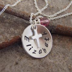 Girl's+first+communion+necklace++Cross+by+filigreepheasant+on+Etsy,+$30.00