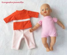 Piirrä kaavat nukenvaatteisiin Baby Born, Diy And Crafts, Onesies, Make It Yourself, Dolls, Sewing, How To Make, Kids, Clothes