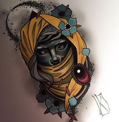 Neo Tattoo, Tattoo Drawings, Sketches Of Love, Art Sketches, Head Tattoos, Rose Tattoos, Old Shool, Signo Libra, Best Tattoo Designs
