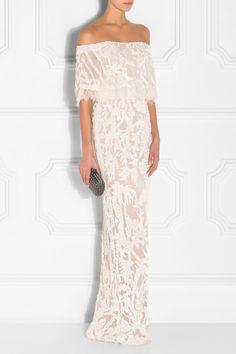 Elie Saab Off-The-Shoulder Embellished Gown