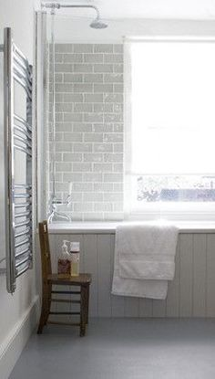 32 New Ideas Bath Panel Bathroom Loft Bathroom, Upstairs Bathrooms, Family Bathroom, Grey Bathrooms, Bathroom Renos, Bathroom Flooring, Beautiful Bathrooms, Bathroom Renovations, Master Bathroom