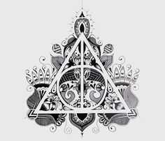 A #design of the Deathly Hallows symbol from Harry Potter that I've drawn on my…