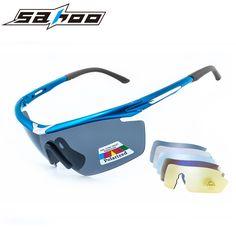 SAHOO Cycling Glasses Polarized Sunglasses Outdoor Sports Eye Protect Cycling Eyewear Bicycle Bike Glasses Gafas Ciclismo 5 Lens