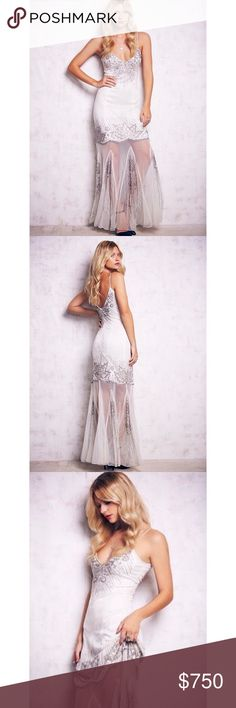 ✨ Free People Candela Azealia Dress Gorgeous free people gown. NWT. Color: Ivory. Size 4. Free People Dresses