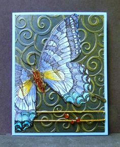 *QFTD166 F4A170 MIX17 Swallowtail by hobbydujour - Cards and Paper Crafts at Splitcoaststampers