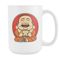 Unlawful Buddha Happy Buddha coffee mug 15oz.