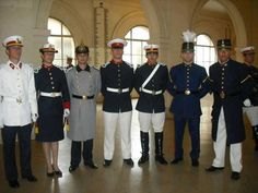 Cadets' dress uniforms of the National Military College of Argentina.