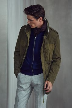 AW17 MENSWEAR LOOKBOOK Look 5 REISS - Shop The Lookbook : Visit REISS and look through our exclusive range of products in the aw17 menswear lookbook. look 5 features our products; kamakura - olive, raymond - stone, display - soft grey, owens - burgundy.