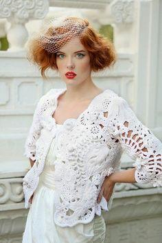 Irish crochet &: Freeform jacket