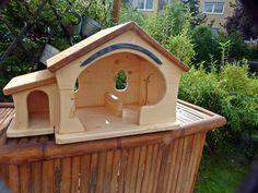 Wooden Dollhouse, Diy Dollhouse, Wood Art, Minis, Cribs, Doors, Unique, Outdoor Decor, Modern