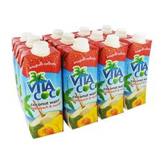 Click Image Above To Buy: Vita Coco Peach Mango Coconut Water 17oz 12-pack Case