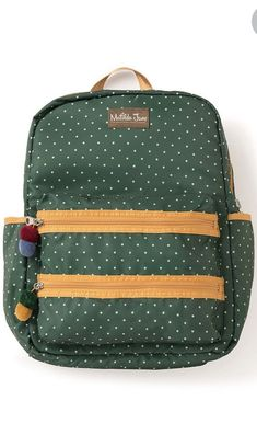 704443f24fc Details about Matilda Jane Cross Campus Backpack with Poms Poms and Laptop  Sleeve NEW