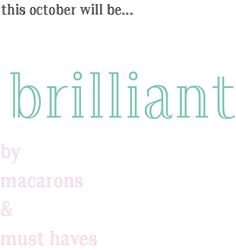 i set my intentions for october, come and see how i want the month to go!