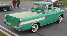"""Old Chevy Trucks. This looks a lot like my dad""""s. Unfortunately, he doesn't have it any longer."""