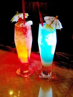 umbrella drinks..