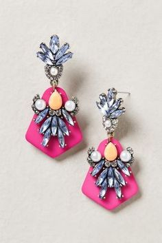 #LatestLust: Pink Statement Earrings from BaubleBar | Dress up a white V-neck tee