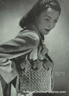 """Free pattern for Vintage Bag Number 2720""""!"""