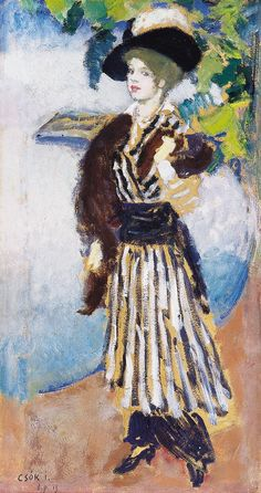 Buy online, view images and see past prices for Csók István Lady in Hat, 1914 Invaluable is the world's largest marketplace for art, antiques, and collectibles. Auction, Gallery, Lady, Artist, Painting, December, Feminine, Impressionism, Paint