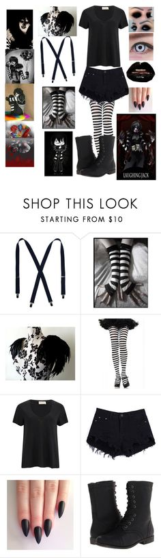 """""""Laughing Jack Cosplay"""" by bloodandglitter ❤ liked on Polyvore featuring Black Swan, American Vintage and Madden Girl"""