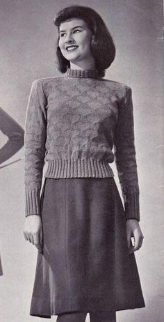 Free Vintage Knitting Pattern: Valentine's Day Pullover Free knitting pattern Vintage Knitting, Vintage Crochet, Baby Knitting, Vogue Knitting, Knitting Patterns Free, Crochet Patterns For Beginners, Free Pattern, Knitting Tutorials, Stitch Patterns