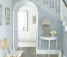 Buy Bone China Blue Grey Paint Online Little Greene Pale Blue Paints, Pale Blue Walls, Blue Gray Paint, Blue Hallway Paint, Pale Blue Nursery, Pale Blue Bedrooms, Blue Rooms, Off White Paint Colors, Paint Colours
