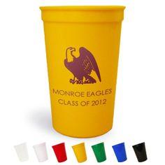 22 Oz. Personalized Plastic Graduation Stadium Cups in Assorted Colors
