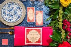 Luxury gatefold indian wedding invitation  #invitation