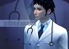 Stethoscope TS4  SIMS4 CC Unisex Clothing Type>Accessories>Necklace