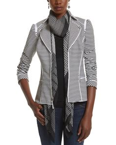 Stripe Knit Moto Jacket from White House | Black Market on shop.CatalogSpree.com, your personal digital mall.
