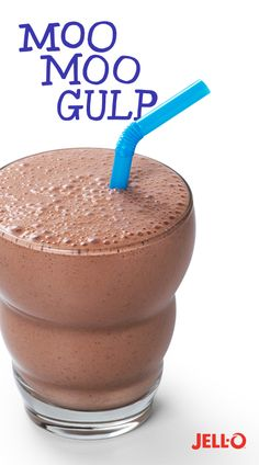 You could make a regular milk shake, but with milk and some JELL-O Instant Pudding, you can take your sweet treat to the next level. Moo Moo Gulp: it's like a milkshake, but a lot moo fun.