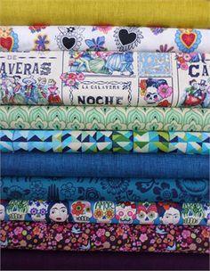 Fabricworm Custom Bundle, Viva la Vida in FAT QUARTERS 10 Total
