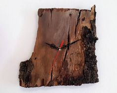 Unique Wall Clock, Wood Clock, Driftwood Clock, Wooden Clock, Raw Wood Clock, FREE SHIPPING, Recycled Wood, housewarming gift, Holiday Gifts
