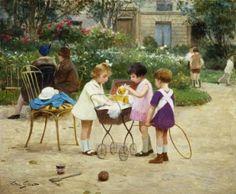 Make Believe ~ Victor Gabriel Gilbert ~ (French: 1847-1933)