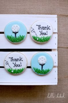 Golf favour cookies