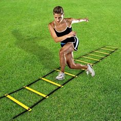 4 Meters Agility Ladder Speed Soccer Football Fitness Feet Training with Carry Bag Elst Weight Loss Tips, Lose Weight, Workout Pictures, Fitness Pictures, Football Workouts, Agility Training, Carry On Bag, Sports Equipment, Ladder