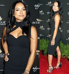 a630425403 Karrueche Tran at the grand opening of Intrigue Nightclub inside Wynn Hotel    Casino in Las