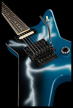 Yeah: Dimebag Darrells metal axe: Dean Guitars Dime From Hell Blue Bolt ML #pantera #dimebag #darrell