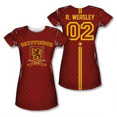 Ron Weasley 02 Gryffindor Quidditch Allover Print Juniors T-shirt