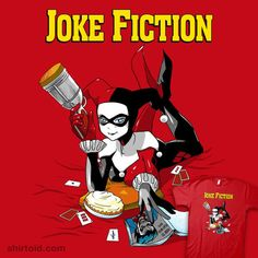 Joke Fiction #batman #coinboxtees #comic #comics #film #harleyquinn #metrokard #movie #pulpfiction